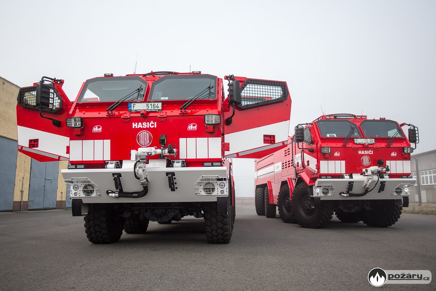 nejnovější hasičský vůz vnových barvách